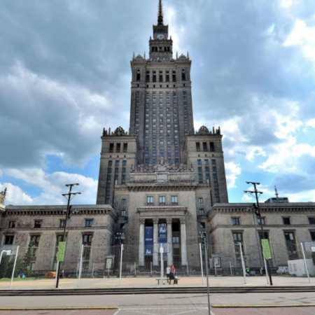 Plac Defilad od strony ul.Świętokrzyskiej