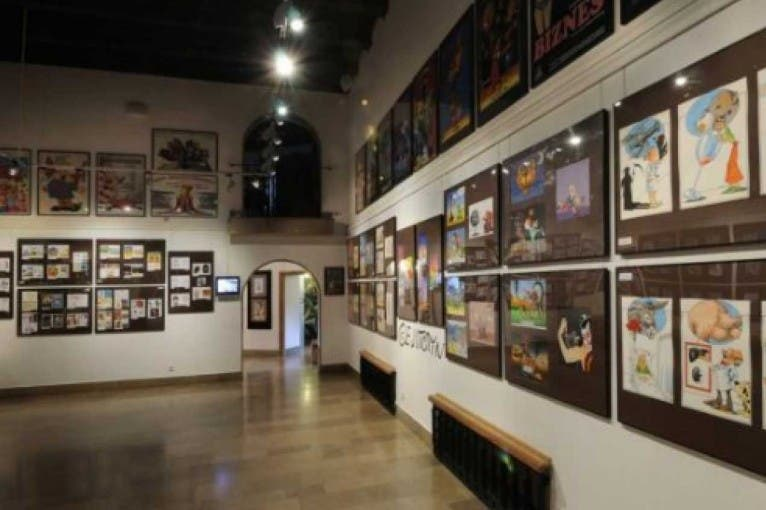 The Pemanent Exhibition of Muzeum Karykatury