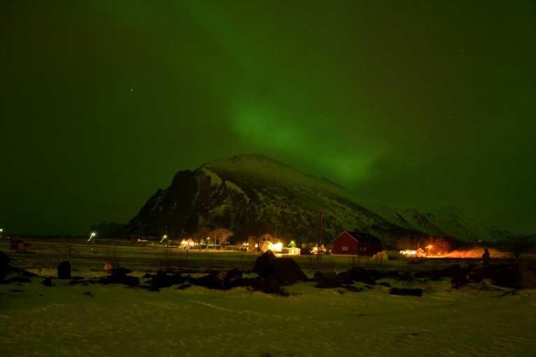 Laponsko, Norsko, polární záře