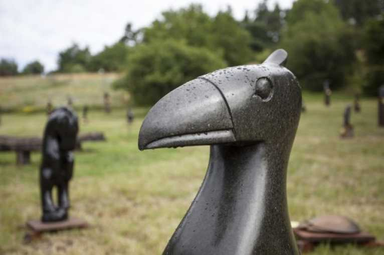 African Sculptures in the Garden