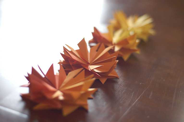 Origami s podzimní tematikou