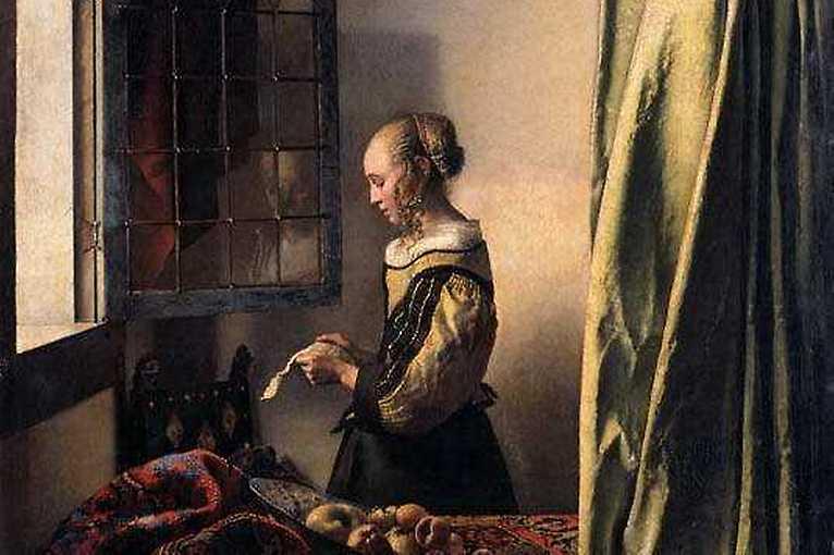 Malíř Jan Vermeer – Dívka čtoucí dopis