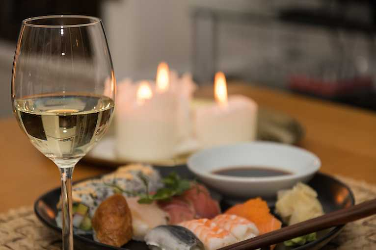 Degustace: Víno a sushi