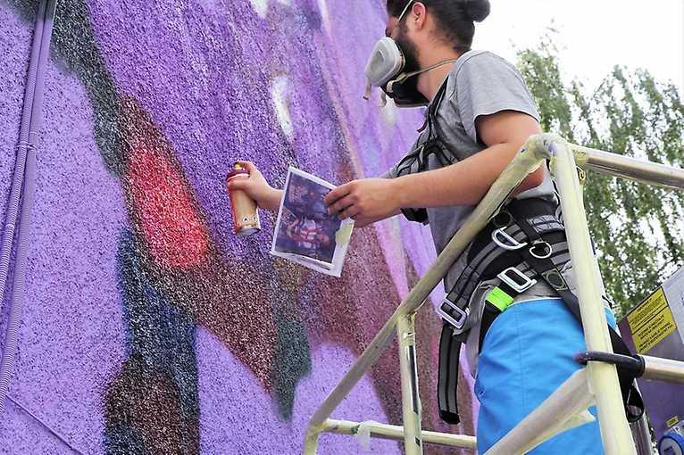 Graffiti workshop Teorie jablka v praxi