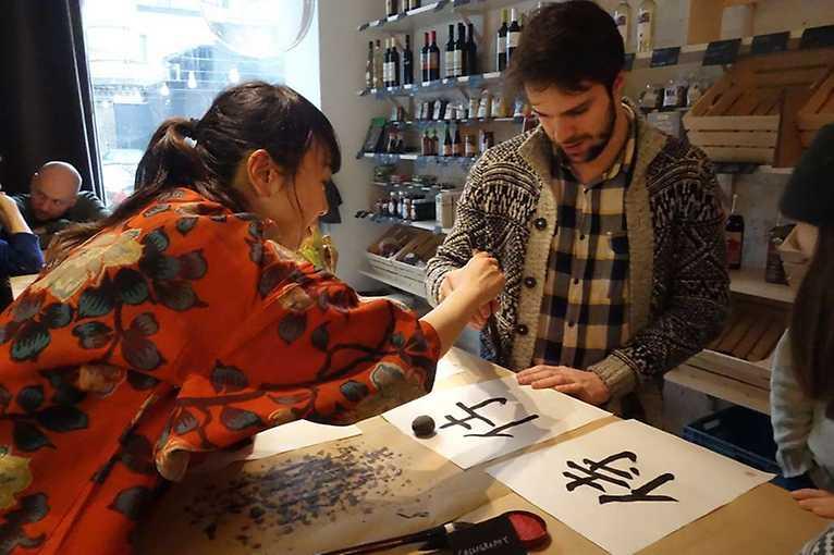 Kurz japonské kaligrafie se Saki Matsumoto