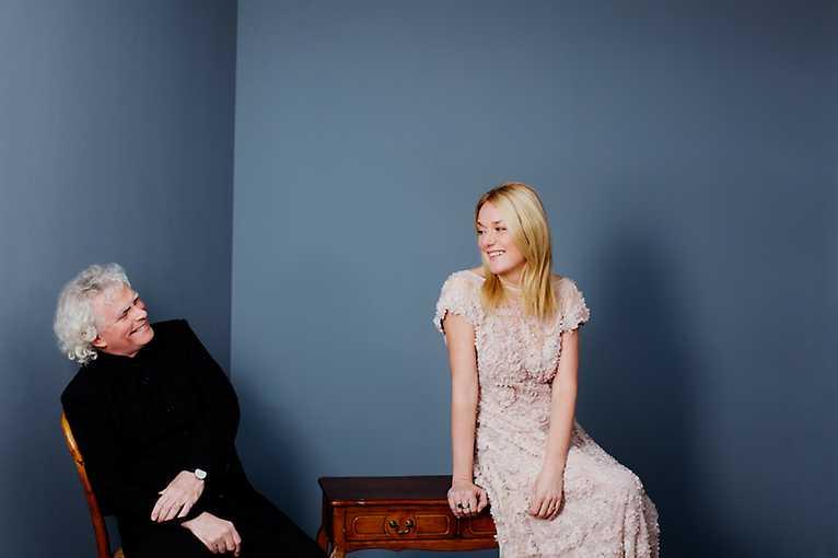Magdalena Kožená a Simon Rattle ve vile Tugendhat