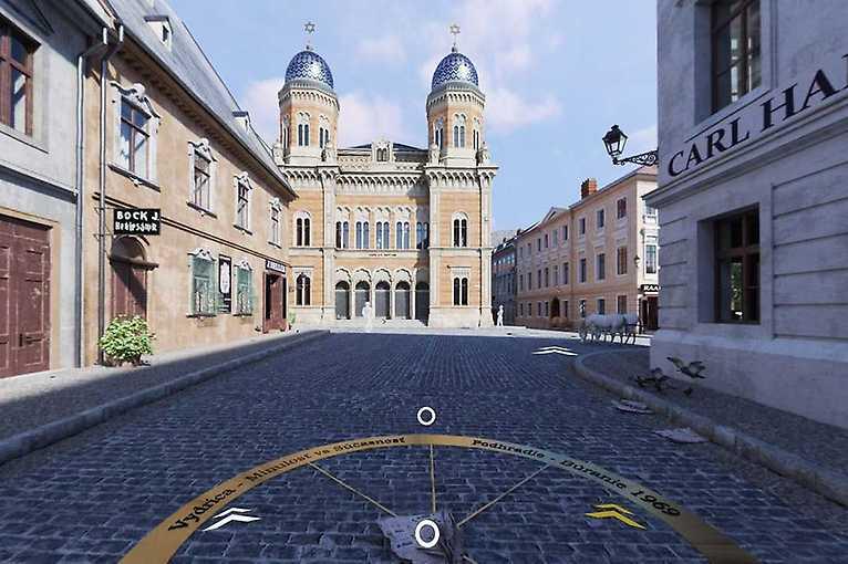 Virtuálna prehliadka zbúranej neologickej synagógy
