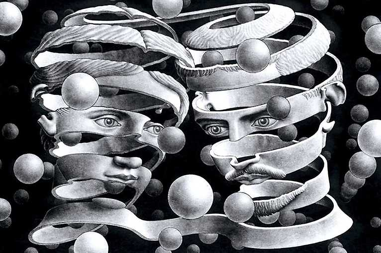 Czarno-biały świat: M.C. Escher (1898-1972), matematyczna precyzja